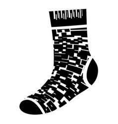 camo sock icon simple style vector image