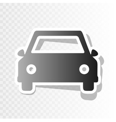 car sign new year blackish vector image