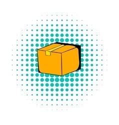 Cardboard box comics icon vector
