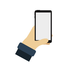 cell phone in hand vector image