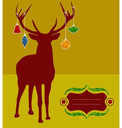 Christmas reindeer greeting card vector