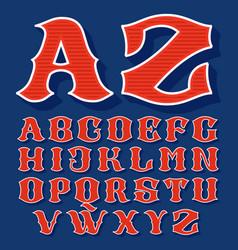 Classic style sport alphabet vector