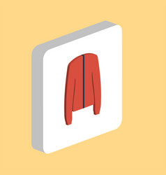 clothing jacket computer symbol vector image