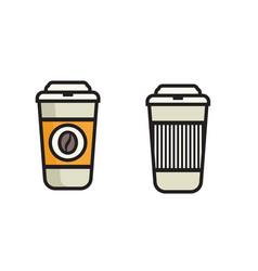 coffee icon - to go icon vector image
