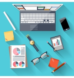 Concept of business team workplace vector