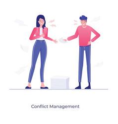 Conflict management vector