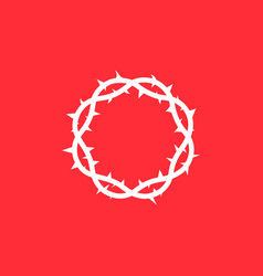 crown of thorns of jesus christ vector image