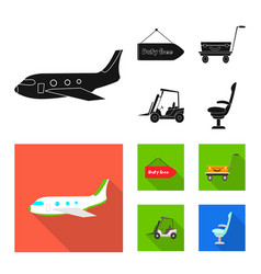 design airport and airplane sign vector image