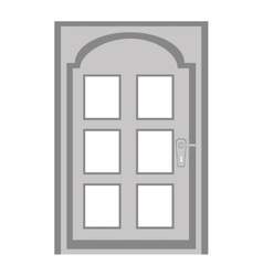 Door house isolated icon vector