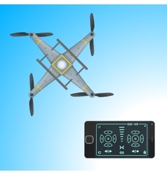 drone remote application vector image