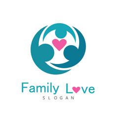 family love logo vector image vector image