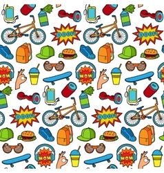Fashion Patch Seamless Pattern vector