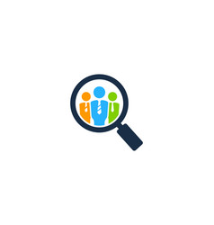 find job logo icon design vector image