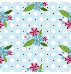 gentle floral pattern vector image