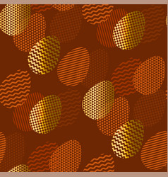 geometry textured easter egg seamless pattern vector image