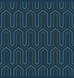Gold art deco modern line seamless pattern vector
