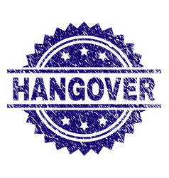 Grunge textured hangover stamp seal vector
