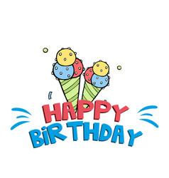 Happy birthday ice cream background image vector