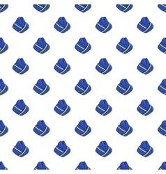 Hat stewardess pattern cartoon style vector