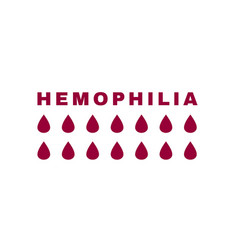 Hemophlia icon vector