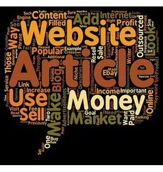 How to Make Money with Outsourced Articles text vector