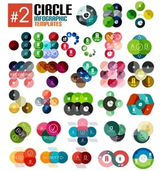 Huge set of circle infographic templates 2 vector image