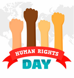 Human rights day concept background flat style vector