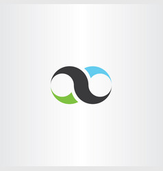 Infinity design icon sign vector