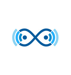Infinity wifi logo icon design vector