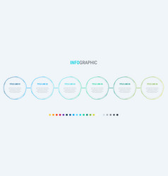infographic template 6 options circle design vector image