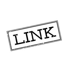 Link rubber stamp vector