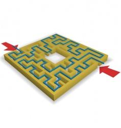 maze puzzle vector image