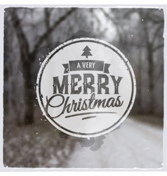 Merry christmas creative graphic message vector