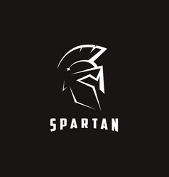 minimalist knight warrior spartan logo icon vector image