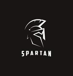 Minimalist knight warrior spartan logo icon vector