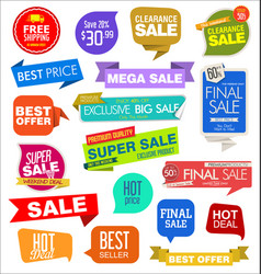 modern labels badges and tags 3 vector image