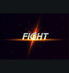 Modern professional fighting template logo design vector