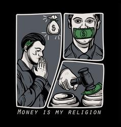 Money is my religion vector