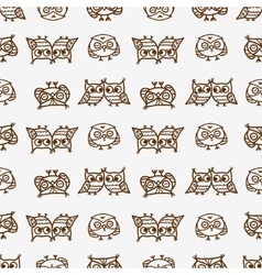owls seamless pattern 3 vector image