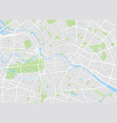 paris colored map vector image