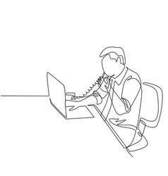 programming concept one continuous line drawing vector image