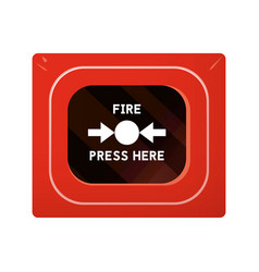 red fire alarm box vector image
