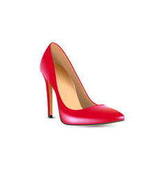 red high-heeled shoes boats vector image