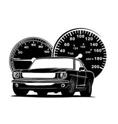 retro muscle car vintage vector image