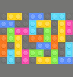 seamless pattern of plastic construction blocks vector image