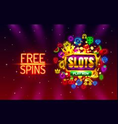 Slots free spins 777 slot sign machine vector