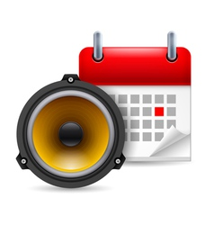 Sound speaker and calendar vector
