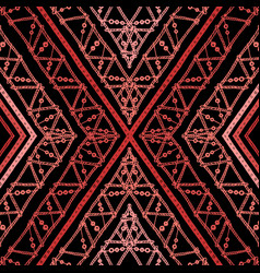 Stripes bright tribal seamless pattern with zigzag vector