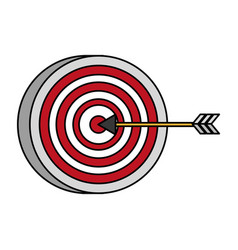 target arrow strategy vector image