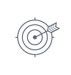 target with arrow icon dark grey icon on vector image